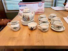RARE  WEDGWOOD  PETER RABBIT 21 PC TEA & COFFEE SET
