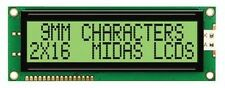 MIDAS  MC21609A6W-GPTLY  LCD 2X16