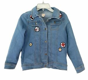 Disney Tutu Couture Kids Girl's 10 Denim Minnie Mouse Blue Jean Jacket