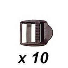 10 x  Boucles de serrage NOIRES pour sangle ou ruban de  largeur 16 mm