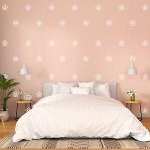 "Cute Flowers Wall Decor Stickers Pattern Art Decals 90 Pcs 3x3"" Decor HE36"
