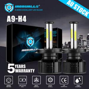 6-sides H4 LED Headlight Hi-Lo Globes Bulbs Hi-Lo Beam For Nissan Navara D22 D40