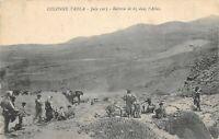 CPA MAROC COLONNE TADLA JUIN 1913 BATTERIE DE 65 DANS L'ATLAS