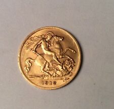 1912 George V 22ct Half Gold sovereign