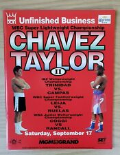 JULIO CESAR CHAVEZ vs. MELDRICK TAYLOR II On-Site Boxing Program 09/17/1994