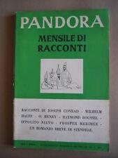 PANDORA Mensile di Racconti n°5 1954 Bompiani disegni di Steinberg  [G474] BUONO