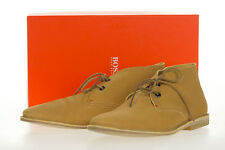 Hugo Boss Manlio Leather Men's ankle boots shoes Lace-up Casual Orange Sz 11/44