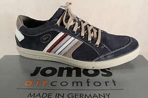 Jomos Men's Trainers 314304 Sneakers Low Shoes Blue Leather New