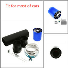 """Carbon Fiber Cold Air Intake System 3""""  Filter Box Induction Universal Part kit"""