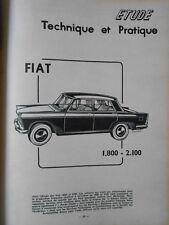 ► REVUE TECHNIQUE -  FIAT 1800-2100 - 1960 - SALON UTILITAIRES