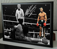 """Mike Tyson """"Iron Mike"""" Framed Canvas Print Signed """"Great Gift & Souvenir"""""""