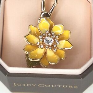 Juicy Couture Charm Yellow Flower YJRU3938 Bling Clip with Box
