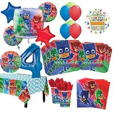 PJ Masks 4th Birthday Party Supplies 16 Guest Kit and Balloon