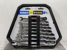 Kobalt 8-Piece 12-Point Metric Flexible Head Ratchet Wrench Set Pro 90 NEW