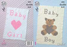 Baby Blankets Boys Crocheting & Knitting Patterns