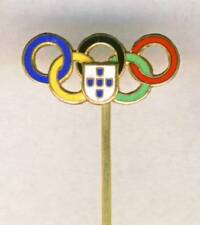 old PORTUGAL Olympic PIN Badge Portuguese NOC