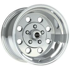 """15X10 VISION SPORT LITE PRO DRAG POLISHED RACING WHEEL 5X4.5 4.5"""" BS 1pc NO WELD"""