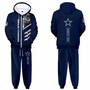 Dallas Cowboys 2Pcs Tracksuit Set Jogging Sweatsuit Hoodie Sweatpants Sportswear