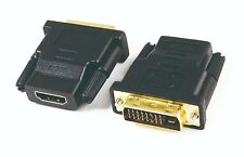 HDMI FEMALE TO DVI-D (24+1) MALE GOLD SOCKET ADAPTOR ADAPTER CONVERTER JOINER