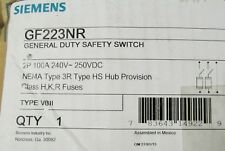 Siemens 100 Amp 240 VAC Type 3R GF223NR Safety Switch *New* UPC# 783643149229