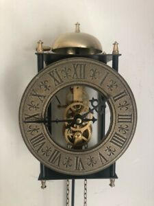 Vintage Weight Driven Chiming Skeleton Clock - Fully Working