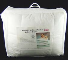 Double Bed Goose Feather and Down Mattress Topper 3 Inch Thick