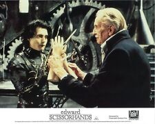 Edward Scissorhands  lobby card - Johnny Depp, Vincent Price - 8 x 10 inches