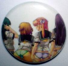 Japanese Hentai Anime Schoolgirls 25mm Pin Badge HENT4