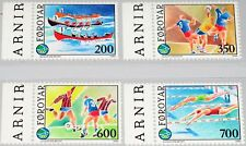 DK Faroe Isl 1989 186-9 193-6 Int Islands Sport Games**