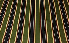 "JACLYN SMITH DOVER STRIPE OLIVE GREEN RED COTTON FABRIC BY THE YARD 54"" W"