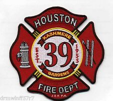 "Houston  Station-39  ""Kashmere Gardens"", TX  (4.5"" x 4.5"" size) fire patch"