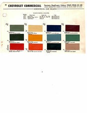 1936 1937 1938 1939 1940 1941 1942 TO 1952 CHEVROLET TRUCKS PAINT CHIPS 4952 MS3