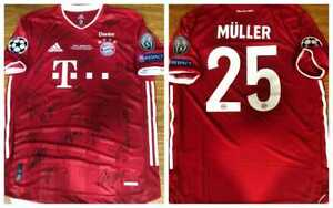 Jersey Bayern Munich Final Champions League 2019 / 2020 - Autographed by Players