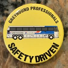 1990S Greyhound Professionals Safety Drivers PinBack 2 Inch