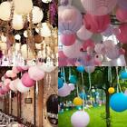"Multicolor Round Chinese Paper Lanterns Wedding Party Hanging Decor 6"" 8"" 10"""