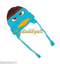 New Disney Parks Phineas & Ferb AGENT P PERRY PLATYPUS Knit Ski Hat Cap Beanie