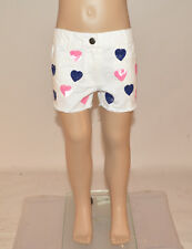 Milkshake Girls White Sequin Love Heart Cotton Hotpants Shorts Age 3-8 Years A27