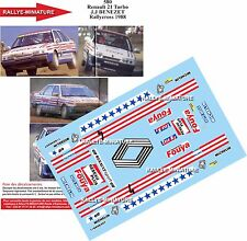 DECALS 1/24 REF 580 RENAULT 21 TURBO BENEZET RALLYCROSS 1988 RALLYE RALLY