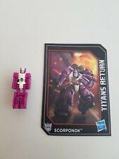 Very rare Transformers Titans Return Scorponok head free UK delivery