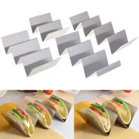 Stainless Steel Mexican Display Stand Shell Rack Wave Shape Taco Holder HU