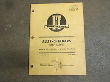Allis Chalmers D21 210 220 tractor I & T Service & Shop manual