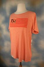 NEW TOMMY HILFIGER TH 85 Heather New Coral Tee T-shirt Top SZ: M