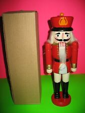 CHRISTMAS WOODEN NUTCRACKER APPROX 13 INCHES NEW WITH BOX.