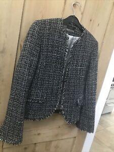 Principles Petite Black Tweed Jacket Size 10
