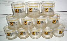 12 Vintage Glass Bell System Yellow Pages On The Rock Glasses