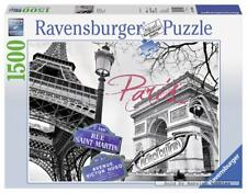 1500 pcs jigsaw puzzle: Black and White - Paris, mon amour (Art, Famous Places)