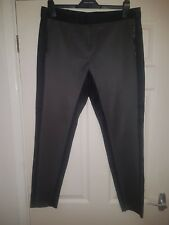 Dorothy Perkins Black and Grey panel Trousers 14