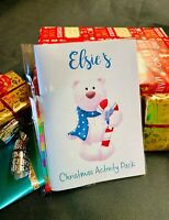 Personalised Christmas activity pack eve box gift children's stocking filler
