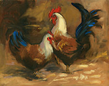 Four Chickens Suite: Welsummer by Ray Robbins - Ltd Edition Giclee on Canvas