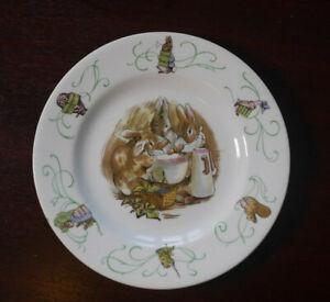 Wedgwood Peter Rabbit Plate 1950s Rare